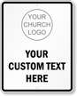 Custom Church Entrance Sign