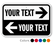 Custom Directional Parking Sign