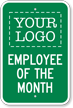 Custom Employee Of The Month Logo Sign