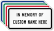 In Memory Of Sign - Add Personalized Name