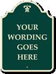 Custom Palladio Designer Sign with Motif, Green Reverse