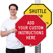 Customizable Octagonal Sign Template