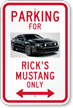 Custom Parking For Car Novelty Sign with Photo