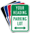 Custom Parking Lot Sign