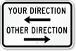 Custom Parking Lot Directional Sign