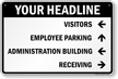 Custom Parking Lot Directory Sign
