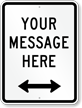 Customizable Parking Message Sign, Bidirectional Arrow