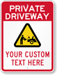 Custom Private Driveway Sign