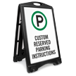 Custom Reserved Parking Sidewalk Sign Insert