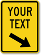 Custom Speed Bump Sign