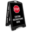 Custom Stop Valet Parking Sidewalk Sign