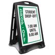 Custom Student Drop-Off Timings Sidewalk Sign Insert