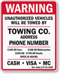 Custom Arkansas Tow-Away Sign