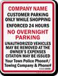 Custom California Tow-Away Sign