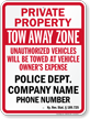 Custom Kentucky Tow-Away Sign