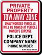 Custom Kentucky Tow-Away Sign