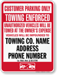 Custom Louisiana Tow-Away Sign