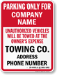 Custom Maine Tow-Away Sign