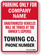 Custom New Mexico Tow-Away Sign