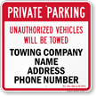 Custom North Carolina Tow-Away Sign