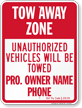 Custom Pennsylvania Tow-Away Sign