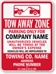 Custom South Carolina Tow-Away Sign