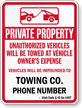 Custom Utah Tow-Away Sign