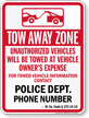 Custom West Virginia Tow-Away Sign
