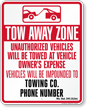 Custom Wisconsin Tow-Away Sign