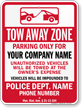 Custom Wyoming Tow-Away Sign