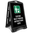 Custom Valet Parking Sidewalk Sign