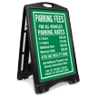 Customized Parking Fees Sidewalk Sign