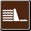 Dam Symbol Sign For Campsite