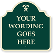 Custom Green Reverse Designer Palladio Sign with Motif