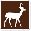 Deer Viewing Area Symbol Sign For Campsite
