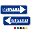 Deliveries Directional Traffic Sign