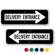 Delivery Entrance Directional Arrow Sign