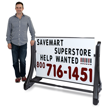 Deluxe Swinger Changing Message Sidewalk Sign - White