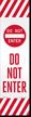 Do Not Enter Flexpost Reflective Adhesive Decal