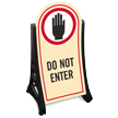 Do Not Enter Portable Sidewalk Sign Kit