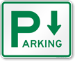 Directional Parking Sign(arrow pointing down)