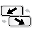 Downwards Pointing Black Arrow Supplemental Parking Sign