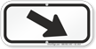 Downwards Right Arrow, Supplemental Parking Sign, Black