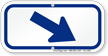 Downwards Right Arrow, Supplemental Parking Sign, Blue
