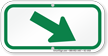 Downwards Right Arrow, Supplemental Parking Sign, Green