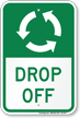Drop Off, Anti-Clockwise Arrows Sign