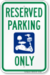 Electric Cart Only Reserved Parking Sign