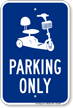 Electric Cart Parking Only Sign