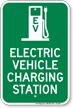 Electric Charging Vehicle Station Sign