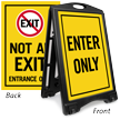 Enter Only And Not An Exit A-Frame Portable Sidewalk Sign
